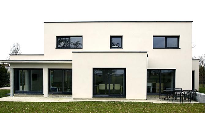 Modèle de maison cubique