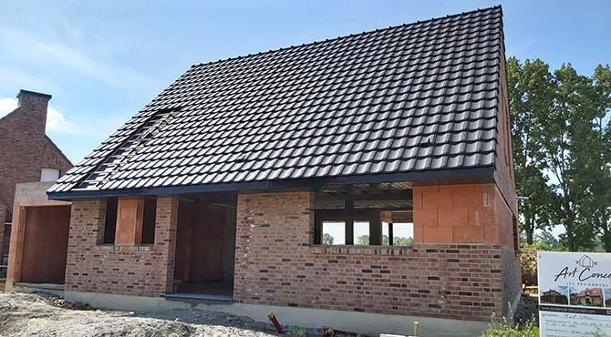 Modèle de maison semi-traditionnelle